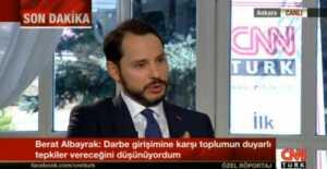 Berat albayrak, CNN-Türk'te