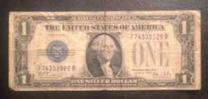 1 dolar, seri numarası F ile başlıyor